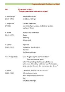 Orgel und Oboe Bsp. Nr. 2