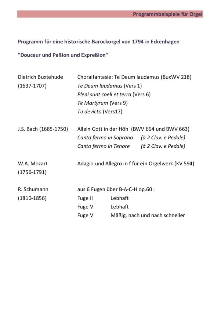 Orgel solo Bsp. Nr.1
